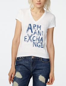 ARMANI EXCHANGE Brushstroke A|X Tee Short Sleeve Tee Woman f