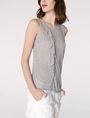 ARMANI EXCHANGE Drape-Front Shell Shell Woman d