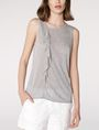 ARMANI EXCHANGE Drape-Front Shell Shell D f