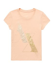 ARMANI EXCHANGE Foil Spray Logo Tee Short Sleeve Tee Woman d