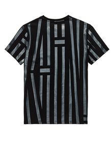 ARMANI EXCHANGE Tape Stripe Tee Graphic Tee U e