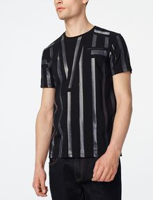 ARMANI EXCHANGE Tape Stripe Tee Graphic Tee U f