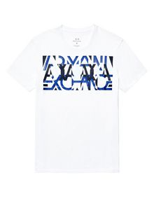 ARMANI EXCHANGE Abstract Overlay Tee Graphic T-shirt Man d