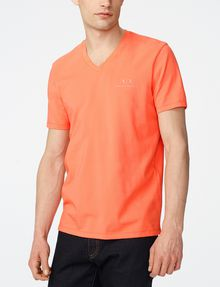 ARMANI EXCHANGE Signature A|X V-Neck Basic Tee U f