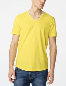 ARMANI EXCHANGE Seamed Arm V-Neck Basic Tee Man f
