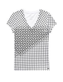 ARMANI EXCHANGE Intersectional Grid Tee Short Sleeve Tee D d