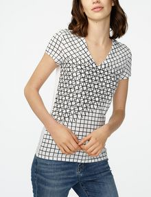 ARMANI EXCHANGE Intersectional Grid Tee Short Sleeve Tee D f