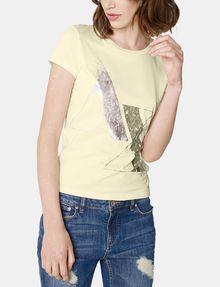 ARMANI EXCHANGE Foil Spray Logo Tee Short Sleeve Tee Woman f