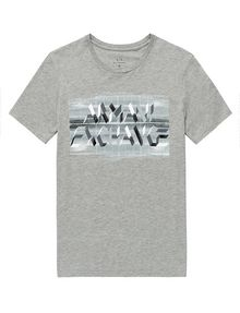 ARMANI EXCHANGE Optical Illusion Logo Tee Graphic Tee U d