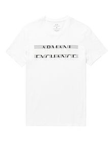 ARMANI EXCHANGE Strikethrough Logo Tee Graphic Tee U d