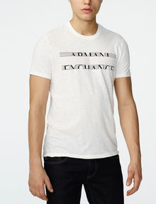 ARMANI EXCHANGE Strikethrough Logo Tee Graphic Tee U f