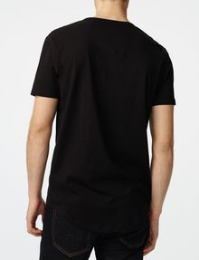 ARMANI EXCHANGE Short-Sleeve Seamed Arm Henley Short sleeve shirt Man r