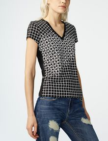 ARMANI EXCHANGE Intersectional Grid Tee Graphic Tee D f