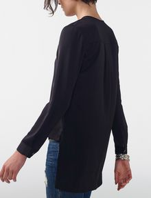 ARMANI EXCHANGE High-Low Tunic Blouse Blouse D d