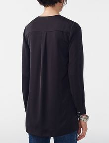 ARMANI EXCHANGE High-Low Tunic Blouse Blouse D r
