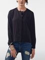 ARMANI EXCHANGE High-Low Tunic Blouse Blouse D f