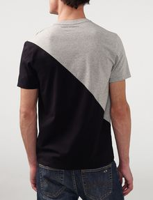 ARMANI EXCHANGE Sporty Diagonal Colorblock Tee Short Sleeve Tee U r