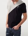 ARMANI EXCHANGE Sporty Diagonal Colorblock Tee Short Sleeve Tee U f