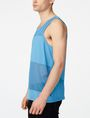 ARMANI EXCHANGE Pieced Mesh Tank Sleeveless Tee Man d