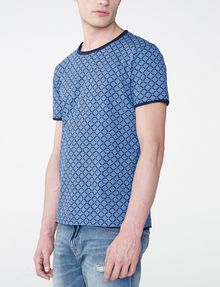 ARMANI EXCHANGE Graphic Grid Two-Layer Crew Basic Tee Man d