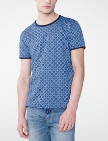 ARMANI EXCHANGE Graphic Grid Two-Layer Crew Basic Tee U f