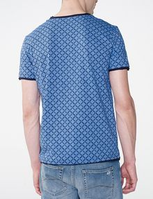 ARMANI EXCHANGE Graphic Grid Two-Layer Crew Basic Tee Man r