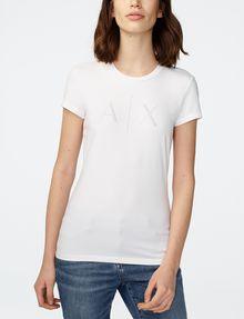 ARMANI EXCHANGE Crystal Logo Tee Short Sleeve Tee Woman f