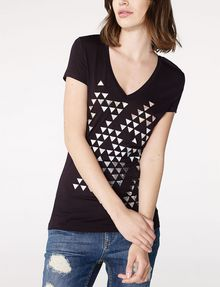 ARMANI EXCHANGE Foil Triangle Tee Graphic Tee D f