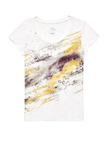 ARMANI EXCHANGE Gradient Splash Logo Tee Graphic Tee D d