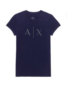 ARMANI EXCHANGE Crystal Logo Tee Short Sleeve Tee D d
