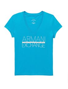 ARMANI EXCHANGE Foil Stripe Logo Tee Graphic Tee D d