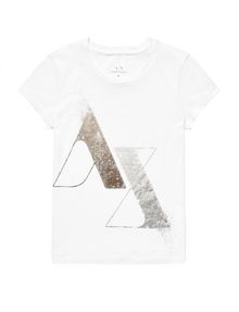ARMANI EXCHANGE Foil Spray Logo Tee Graphic Tee D d