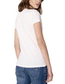 ARMANI EXCHANGE Crackle Foil Logo V-Neck Short Sleeve Tee Woman r