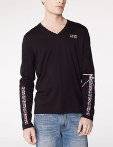 ARMANI EXCHANGE Ziggy Logo Long-Sleeve Tee Graphic T-shirt Man f