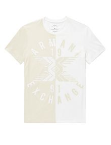 ARMANI EXCHANGE New Fade Split Logo Tee Graphic Tee U d