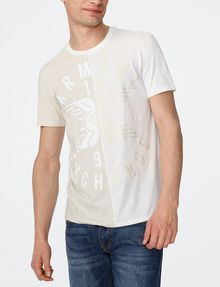 ARMANI EXCHANGE New Fade Split Logo Tee Graphic T-shirt Man f