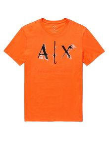 ARMANI EXCHANGE Liquid Bleed Logo Tee Graphic T-shirt U d