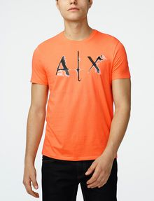 ARMANI EXCHANGE Liquid Bleed Logo Tee Graphic T-shirt U f