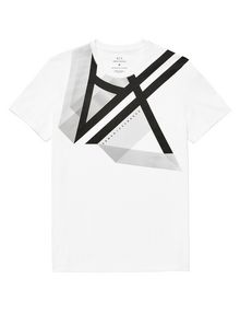 ARMANI EXCHANGE Right Side Up Logo Tee Graphic T-shirt Man d