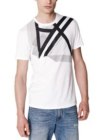 ARMANI EXCHANGE Right Side Up Logo Tee Graphic T-shirt Man f