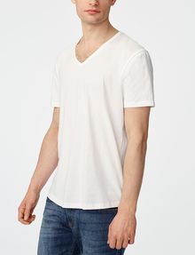 ARMANI EXCHANGE Seamed Arm V-Neck Short Sleeve Tee U f