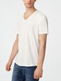 ARMANI EXCHANGE Seamed Arm V-Neck Short Sleeve Tee Man f