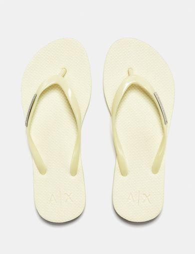 ARMANI EXCHANGE Classic Tonal Flip Flops Woman retro