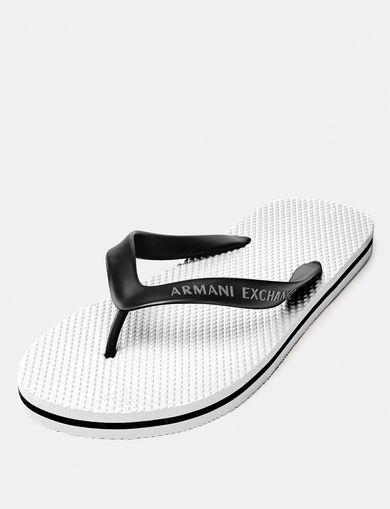 ARMANI EXCHANGE Solid Beach Flip Flop Man front