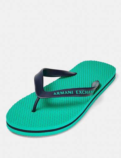ARMANI EXCHANGE Solid Beach Flip Flop Man retro