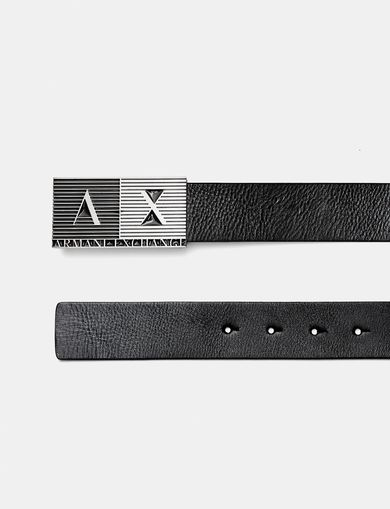Armani Exchange men's belts: leather and logo belts - A|X Online Store
