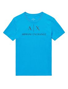 ARMANI EXCHANGE Classic Logo Crewneck Tee Graphic T-shirt Man d