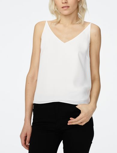 ARMANI EXCHANGE Wide V Layering Cami Woman front