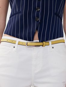 ARMANI EXCHANGE Skinny Faux-Leather Belt Belt [*** pickupInStoreShipping_info ***] d