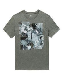 ARMANI EXCHANGE Hibiscus Logo Crew Graphic T-shirt U d